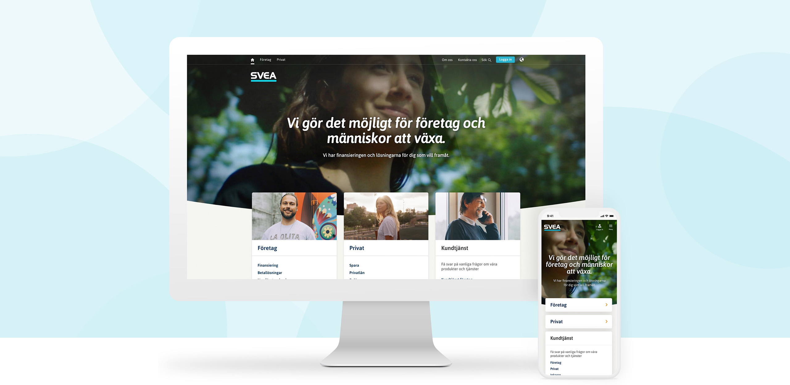 Svea.com responsive website